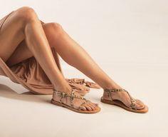 SANDALS :: Most chic, 'Athena leopard & porfyra' sandals - Most Chic