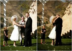 retro wedding ideas | louland falls wedding ceremony | tea length wedding dress | logan walker photography