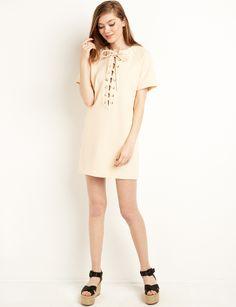 shift dress  laceup  shift  fashion  pixiemarket Eyelet Lace 9d1ddd74b
