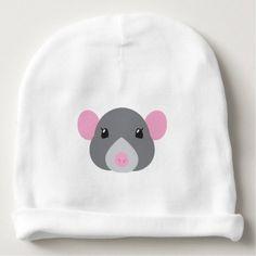 #cute #baby #beanies #babybeanies - #girl rat face grey baby beanie
