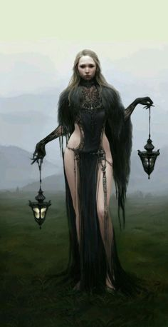 """rpgrules: """" Jiyeon Ryu Concept Artist and Illustrator Black Witch Black Witch who manipulates time. """""""