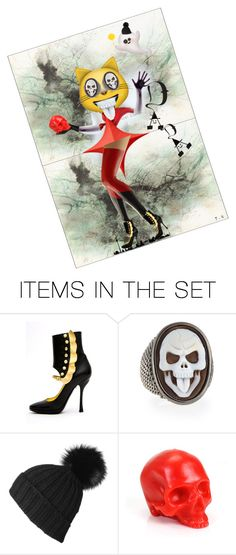 """""""DADAWEEN PARTY!!"""" by ti-ka ❤ liked on Polyvore featuring art"""