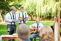 """""""Somewhere Over The Rainbow"""" played by the little brothers for the Wedding Party Entrance. The Wedding of Rachel & Jaron, A Family Affair 