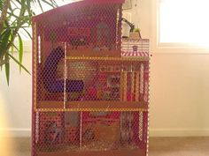How to Build a Guinea Pig Hamster Cage MANSION ( in my case my girl gliders)!!! WTF did i not think of this...