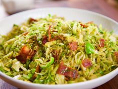 "Brussels Sprout and Bacon Hash (Farm Brunch Anniversary) - Molly Yeh, ""Girl Meets Farm"" on the Food Network. Side Dish Recipes, Veggie Recipes, Cooking Recipes, Healthy Recipes, Cooking Pork, Yummy Recipes, Recipies, Chef Recipes, Healthy Dinners"