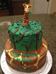 Cat's Cake Creations: Giraffe Birthday Cake