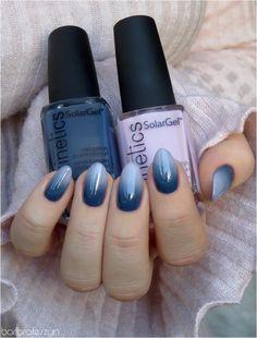Pink & Navy Blue Gradient Nails : RedditLaqueristas