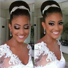 coque clássico noiva afro