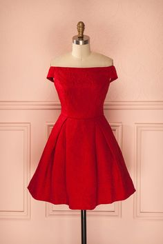 Now THIS is a perfect dress for the ballet! So in love with the fiery red, and off the shoulder look.