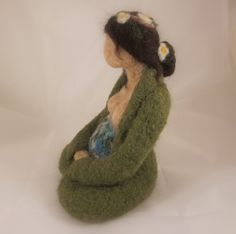 Custom 6 inch Needle Felted Mother Earth Doll