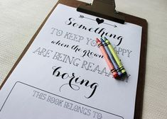 print your own activity book for wedding