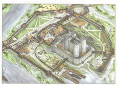 Western Motte and Bailey   1000+ images about Medieval Village Drawings on Pinterest ...