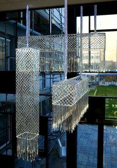 Stichting Kunst en Openbare Ruimte - Rechthoekige Bobbin Lace Lamp