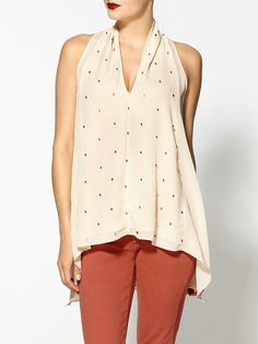 elegant low v neckline blouse