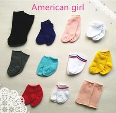 5-pairs-mixed-Doll-accessories-for-18-American-Girl-fashion-socks-dolls-a225 in Dolls & Bears, Dolls, Clothes & Accessories | eBay