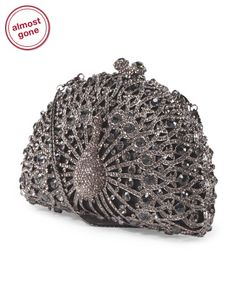 Crystal Peacock Clutch