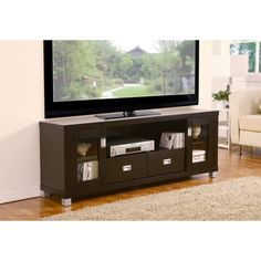 Furniture of America Bronson 60-inch Media Cabinet TV Stand | Overstock.com Shopping - Great Deals on Furniture of America Media/Bookshelves
