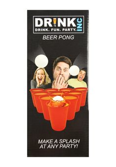 Make a splash at any party with this men's novelty beer pong gift set. Featuring everything needed to play the classic drinking game, this set is a must have...