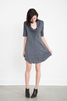 Sparrow Shawl -- Hemp/Organic Cotton Jersey tunic -- Made in USA
