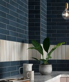 Blue tiles at Topps Tiles. Suitable for walls & floors in a range of materials. Express and 24 hour home delivery available. Large Tile Bathroom, Beach House Bathroom, Small Tiles, Bathroom Stuff, Bathroom Ideas, Blue Wall Colors, Bungalow Kitchen, Topps Tiles, Kitchens