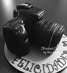 Cámara de fotos tarta de fondant. DFondant Cakes