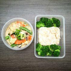Mix Stir vegs over rice (Capcay). Ingredients: Capri, cauliflower, black mushroom, carrots, garlics, mustard leaves, eggs, minced chicken, corn starch, oysters sauce, soy sauce, pepper & scallions.