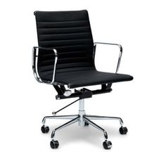 Management Leather Office Chair Eames Replica Black