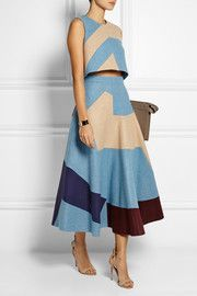 Roksanda Ilincic Amitis patchwork wool-felt midi skirt