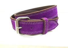 Purple Suede Belt Purple Leather Belt Purple Belt Lavender