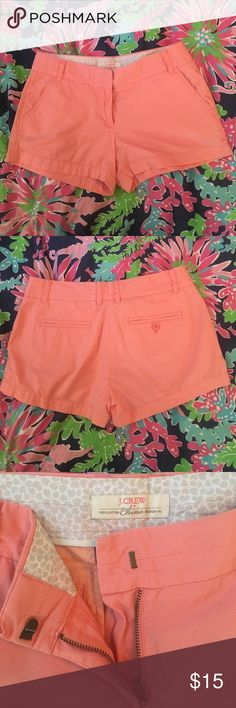 """Pink J.Crew Chino Shorts A peachy pink pair of classic J.Crew 3"""" chinos. No marks or stains and minimal wear and tear. J.Crew Factory Shorts"""