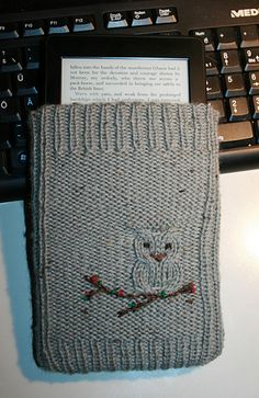 Wise owl kindle cover free knitting pattern
