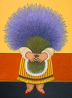 "°lavanda° ""Lavender Lady"" by Lowell Herrero Art And Illustration, Flowers Illustration, Colombian Art, Arte Popular, Naive Art, Art For Art Sake, Renoir, Whimsical Art, Folk Art"