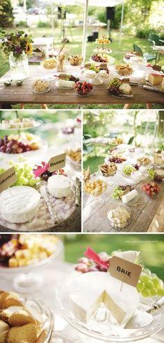 Wedding wine and cheese bar
