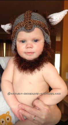 Funny (and Comfy) Baby Halloween Costume: Hudson the Baby Viking… Coolest Halloween Costume Contest