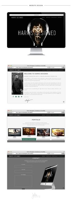Harris Designed One Page Wireframe Website and Brand Identity Design | Julie Harris Design