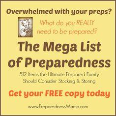382 best survivaldisaster preparedness images on pinterest get your free copy of the mega list of preparedness 512 items the ultimate prepared fandeluxe Images