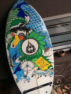 Wakesurf board  camarón brujo. Handmade art. Posca markers . Art Freerideclub