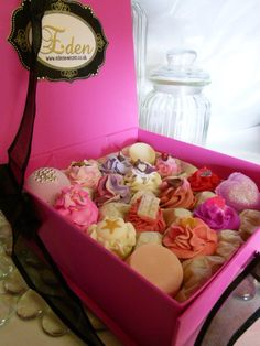 A beautiful gift box of delicious, handmade soaps!!! Perfect for Christmas