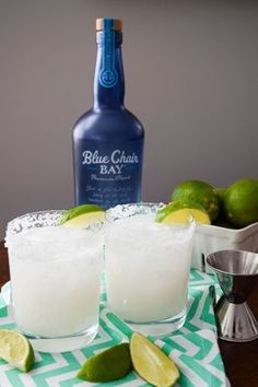 COCONUT RUM-A-RITA // 3 ounces light coconut milk (canned) + 8 ounces coconut water + 5 ounces Blue Chair Bay Coconut Rum + Squeeze of lime juice + Margarita salt to garnish + Lime wedge to garnish // Prep your glasses by salting the glass rims and filling with ice. Combine coconut milk, coconut water and coconut rum until well combined. Pour into glasses and squeeze a lime wedge into drink to taste. Garnish with lime wedge. Enjoy your delish Coconut Rum-a-rita!