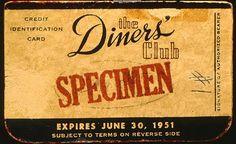#primaCartadicredito #1950 #Diners
