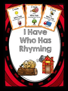 I have who has for rhyming. A great cooperative learning way to reinforce the skill of rhyming words. Rhyming Worksheet, Rhyming Activities, Kindergarten Literacy, Jungle Activities, Preschool Themes, Kindergarten Language Arts, Phonics Reading, Rhyming Words, Cooperative Learning