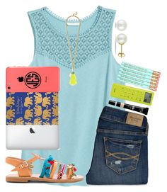 """Back to schoooool"" by emmagracejoness ❤ liked on Polyvore featuring Elina Linardaki, BaubleBar, Abercrombie & Fitch, Lilly Pulitzer, Miadora and Lab"
