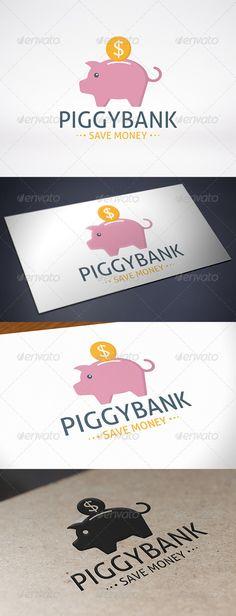 Piggy Bank Logo Template  #graphicriver