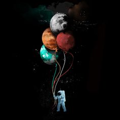 The spaceman's trip is a T Shirt designed by gloopz to illustrate your life and is available at Design By Humans