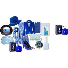 """""""Feeling Blue"""" by aj-fassett on Polyvore"""
