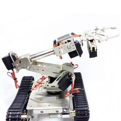 Stainless Steel Manipulator Rotating Assembled Robot Arm With Servo