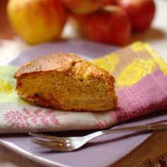 Apple cake made with spelt flour