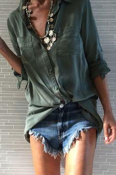 tash sefton / khaki shirt love