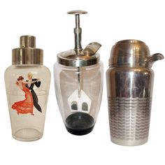 Beautiful Art Deco Cocktail Shakers Saint Medard, France | From a unique collection of antique and modern barware at http://www.1stdibs.com/furniture/dining-entertaining/barware/