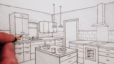 How to draw 2-point perspective in this time-lapse version of How to Draw a Room in Two-Point Perspective (3:41).